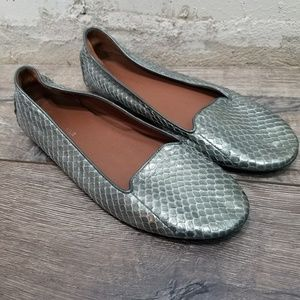 Donald Pliner Snakeskin Leather Ballet Flats 10M